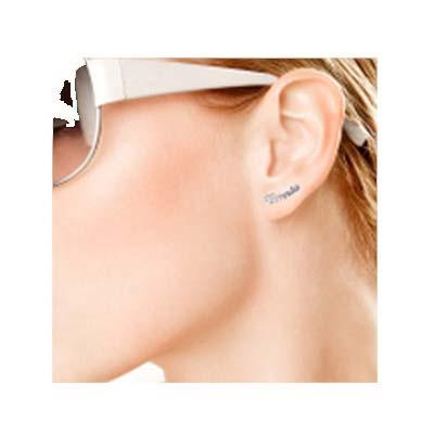 Boucles d'oreilles personnalisées avec prénom en argent - 1