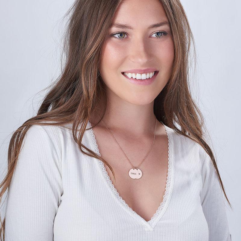 Bijou Personnalisé - Collier médailles en plaqué Or Rose - 1