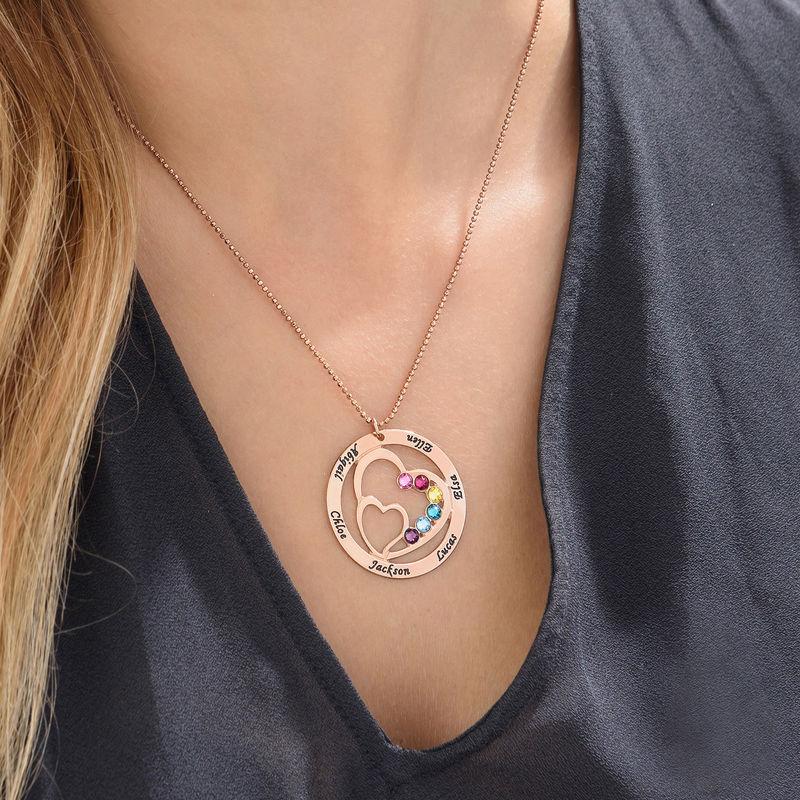 Collier Double Cœur pour Mamans en plaqué or rose - 5