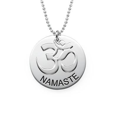 Collection Yoga - Collier Namaste Gravé en Argent