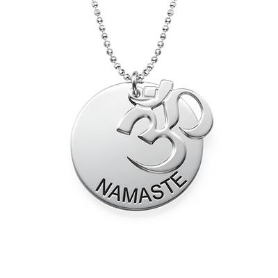 Collection Yoga - Collier Namaste Gravé en Argent - 1