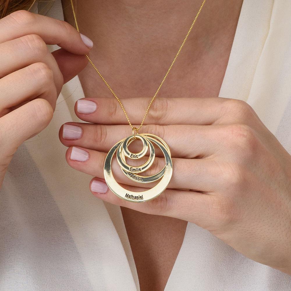 Collier quatre cercles gravés en or jaune 10 carats - 3