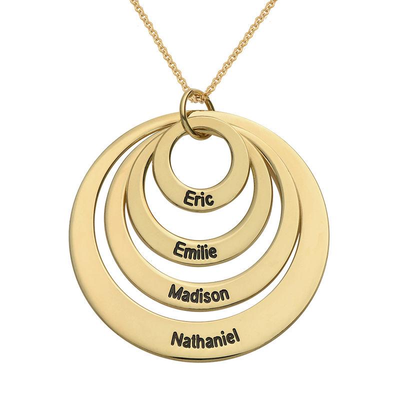 Quatre cercles avec gravure en Vermeil d'Or