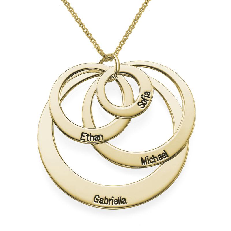 Quatre cercles avec gravure en Vermeil d'Or - 1