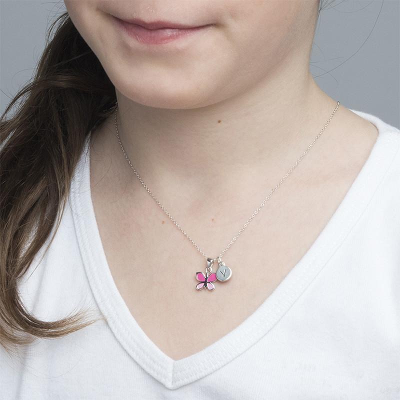 Collier Papillon Rose pour Enfants - 2
