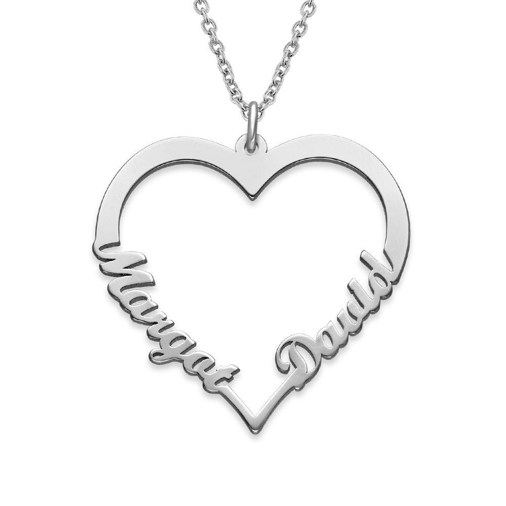 Collier Coeur avec Prenom en Argent