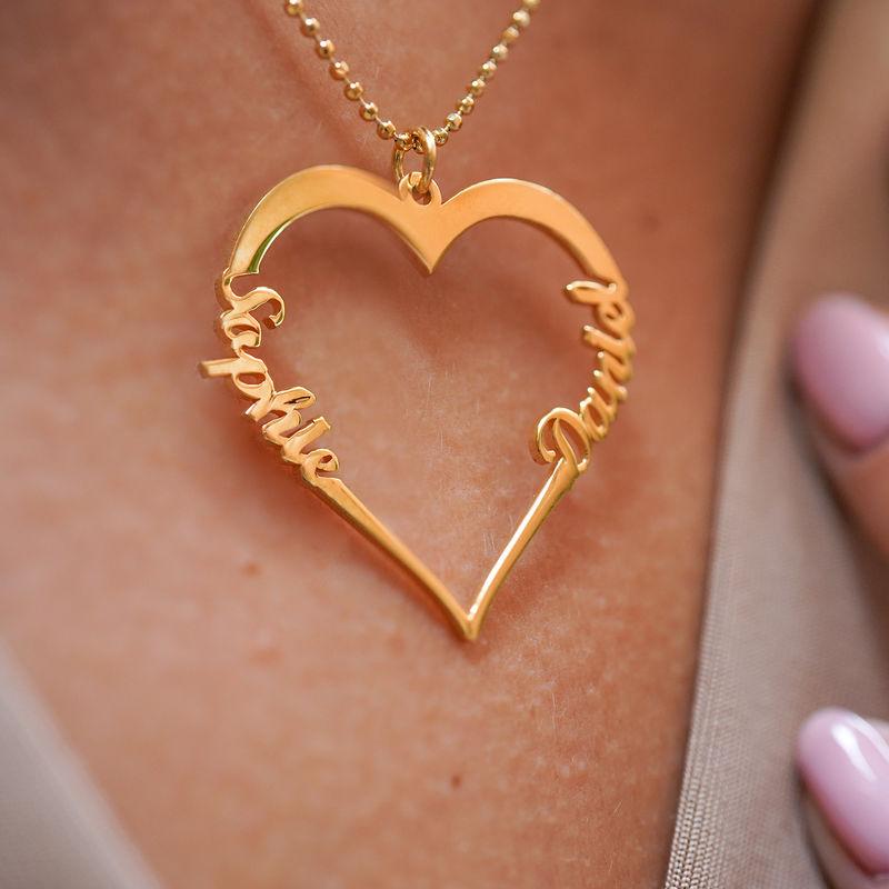 Collier Coeur avec Prenom en Plaqué Or - 3