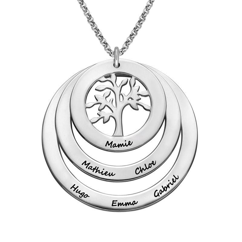 Collier Cercles avec Arbre de Vie pour Mamie