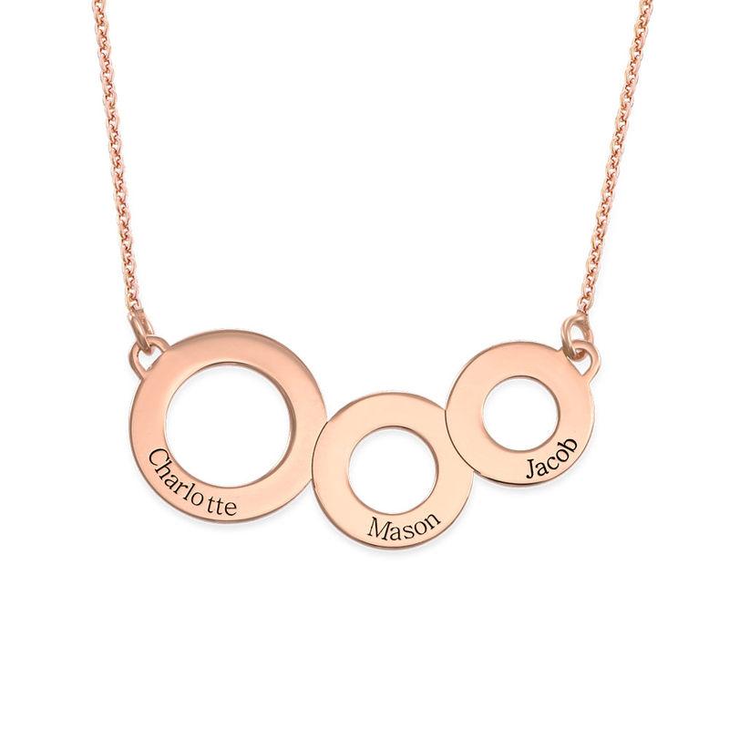 Collier cercles gravés en plaqué or rose - 1