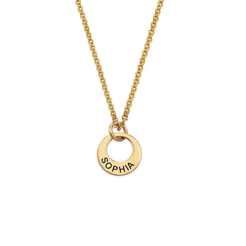 Petit collier disque en plaqué or