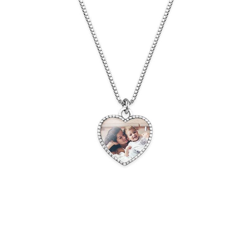 Petit collier pendentif cœur avec photo