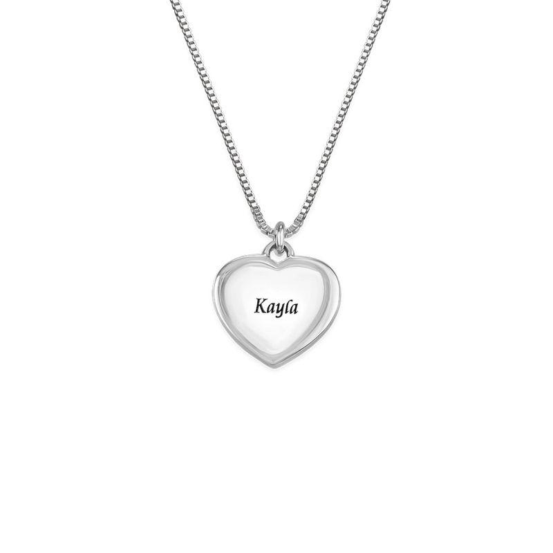 Petit collier pendentif cœur avec photo - 1