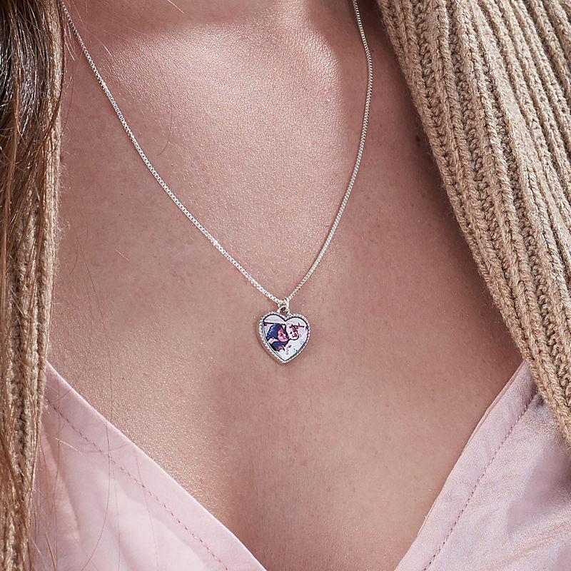 Petit collier pendentif cœur avec photo - 3