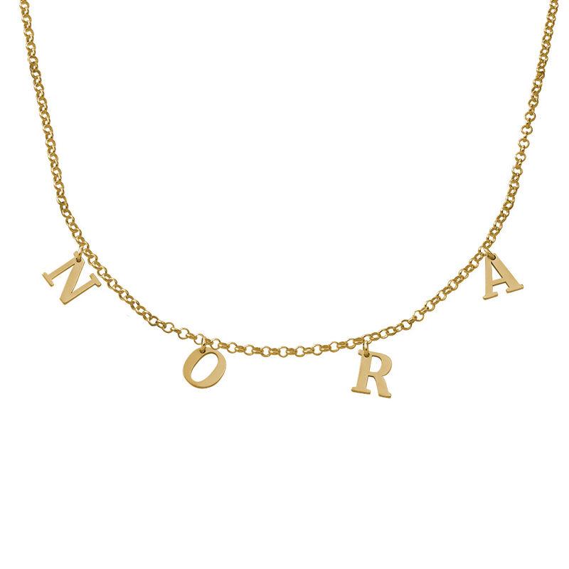 Collier Ras de Cou avec Initiales en plaqué or 18 carats - 1