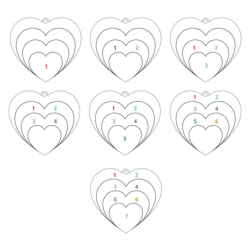 Collier d'amour famille en argent - 3