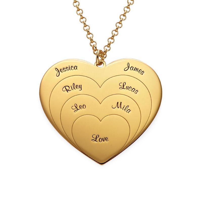 Collier d'amour famille en plaqué or