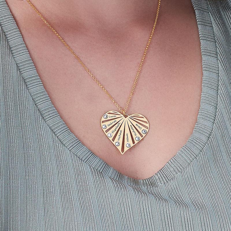Collier de famille avec pierres de naissance en or Vermeil - 5