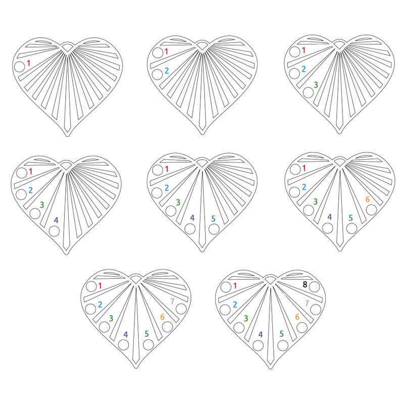 Collier de famille avec diamants en Or Vermeil - 5