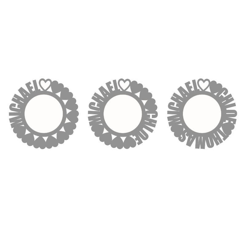 Collier prénom cercle en argent - 3