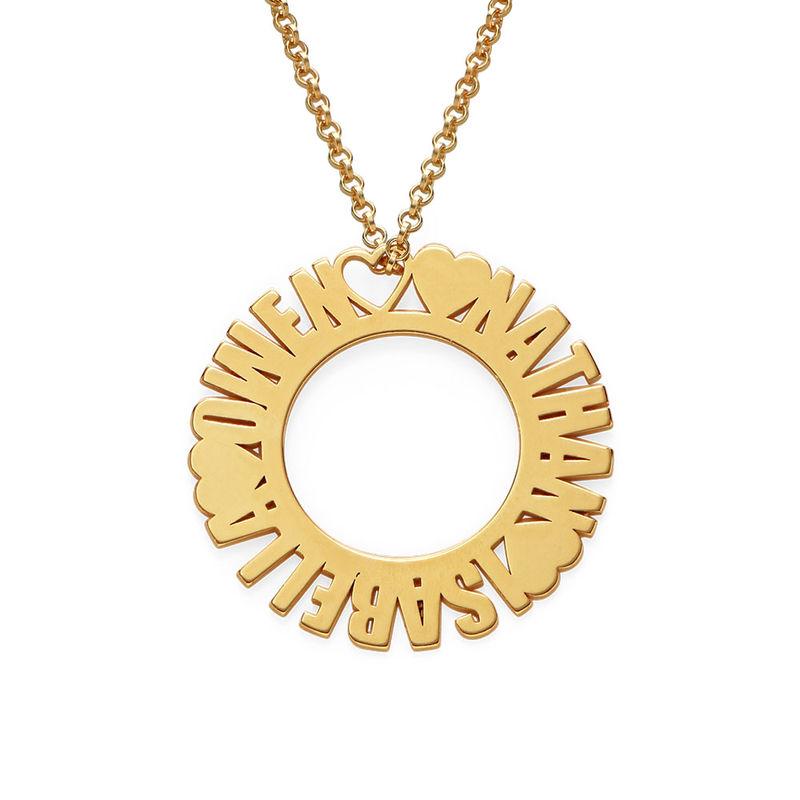 Collier prénom cercle en plaqué or