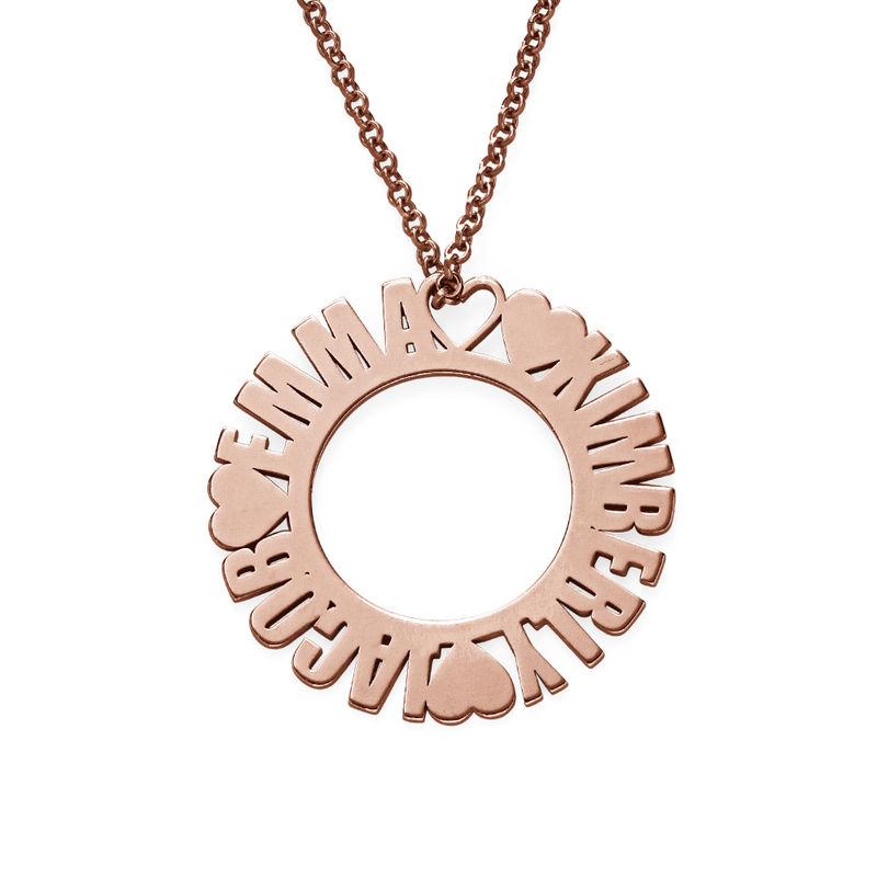 Collier prénom cercle en plaqué or rose