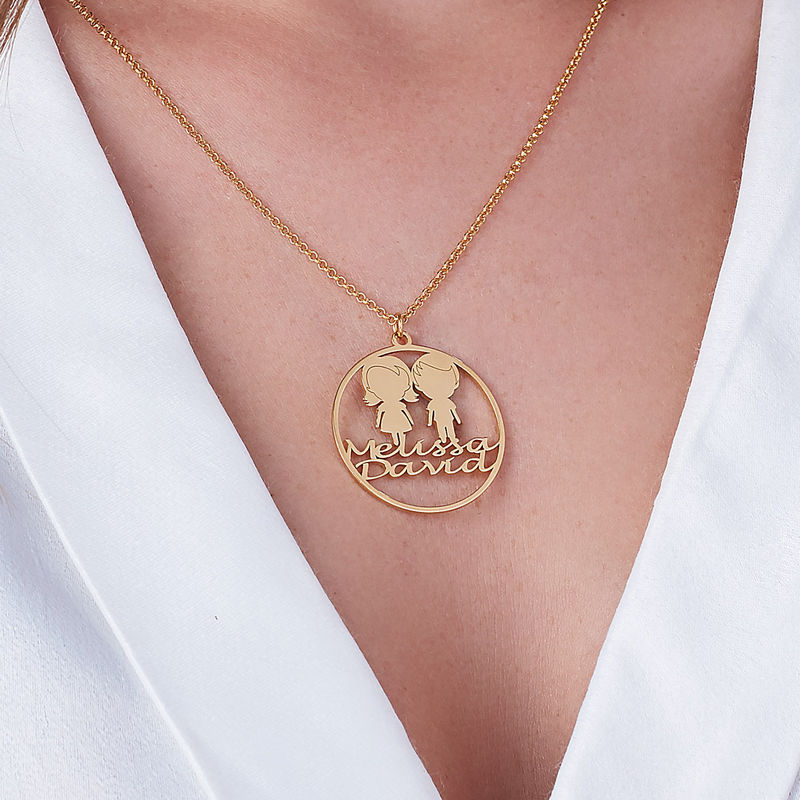 Collier cercle pour maman en plaqué or - 2