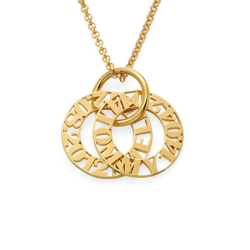 Collier personnalisé pour maman en plaqué or