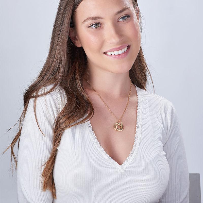 Collier personnalisé pour maman en plaqué or - 1