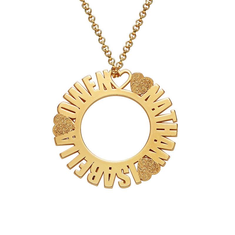 Collier prénom cercle en plaqué or avec effet diamant