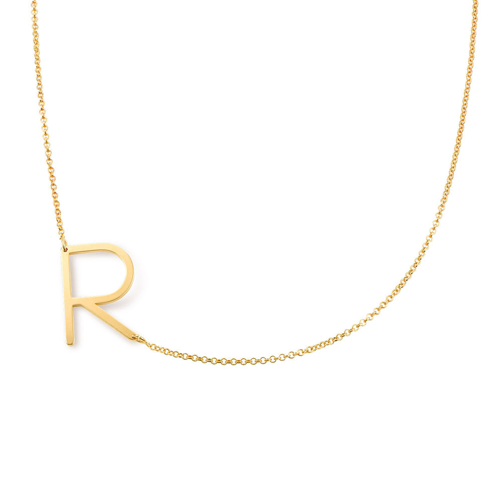 Collier Initial en Plaqué Or 18Cts