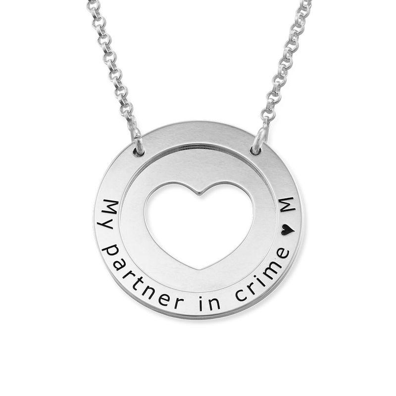 Collier cercle avec coeur en Argent