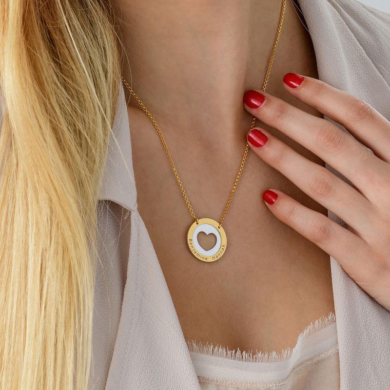 Collier cercle avec coeur en Argent et Plaqué Or - 3