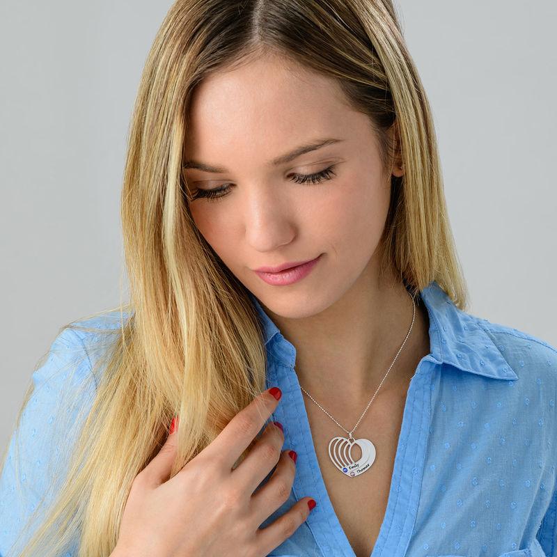 Collier gravé avec pendentif cœur en Argent - 2