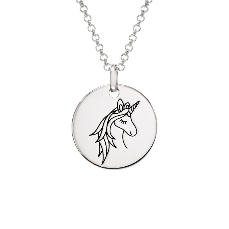 Collier pendentif Licorne en Argent