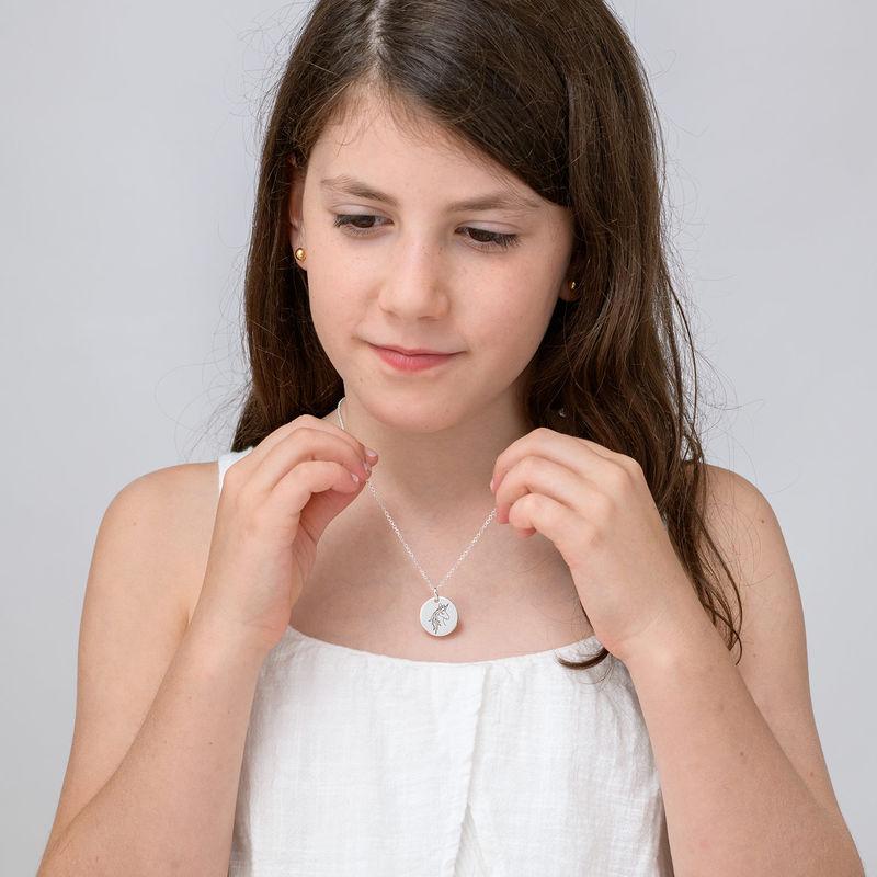 Collier pendentif Licorne en Argent - 3