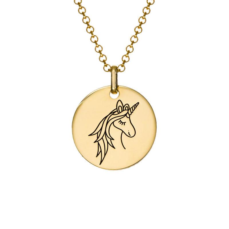 Collier pendentif Licorne en Plaqué Or