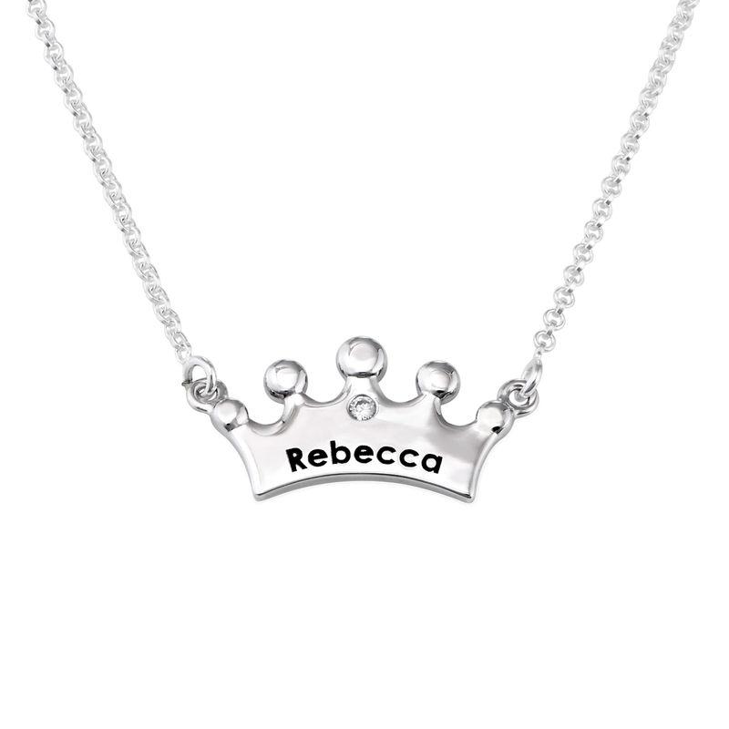 Collier fille couronne de princesse  avec zircon cubique
