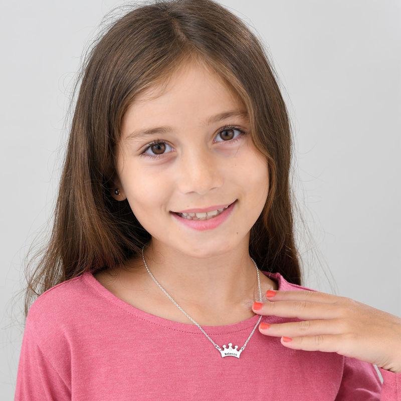 Collier fille couronne de princesse  avec zircon cubique - 1
