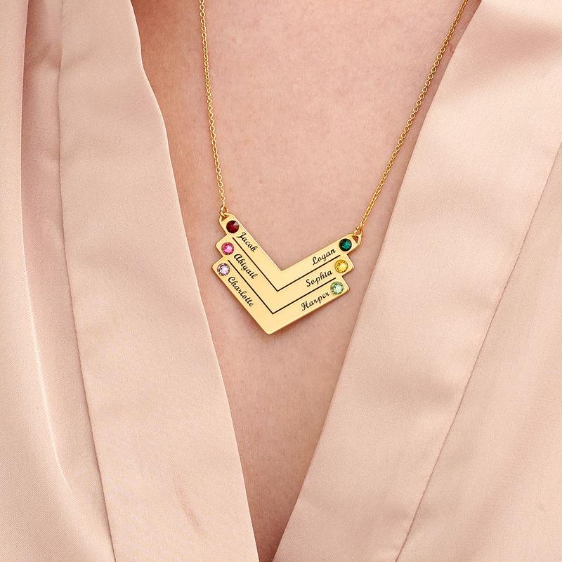 Collier Personnalisé pour Maman avec des cristaux en Plaqué Or - 4