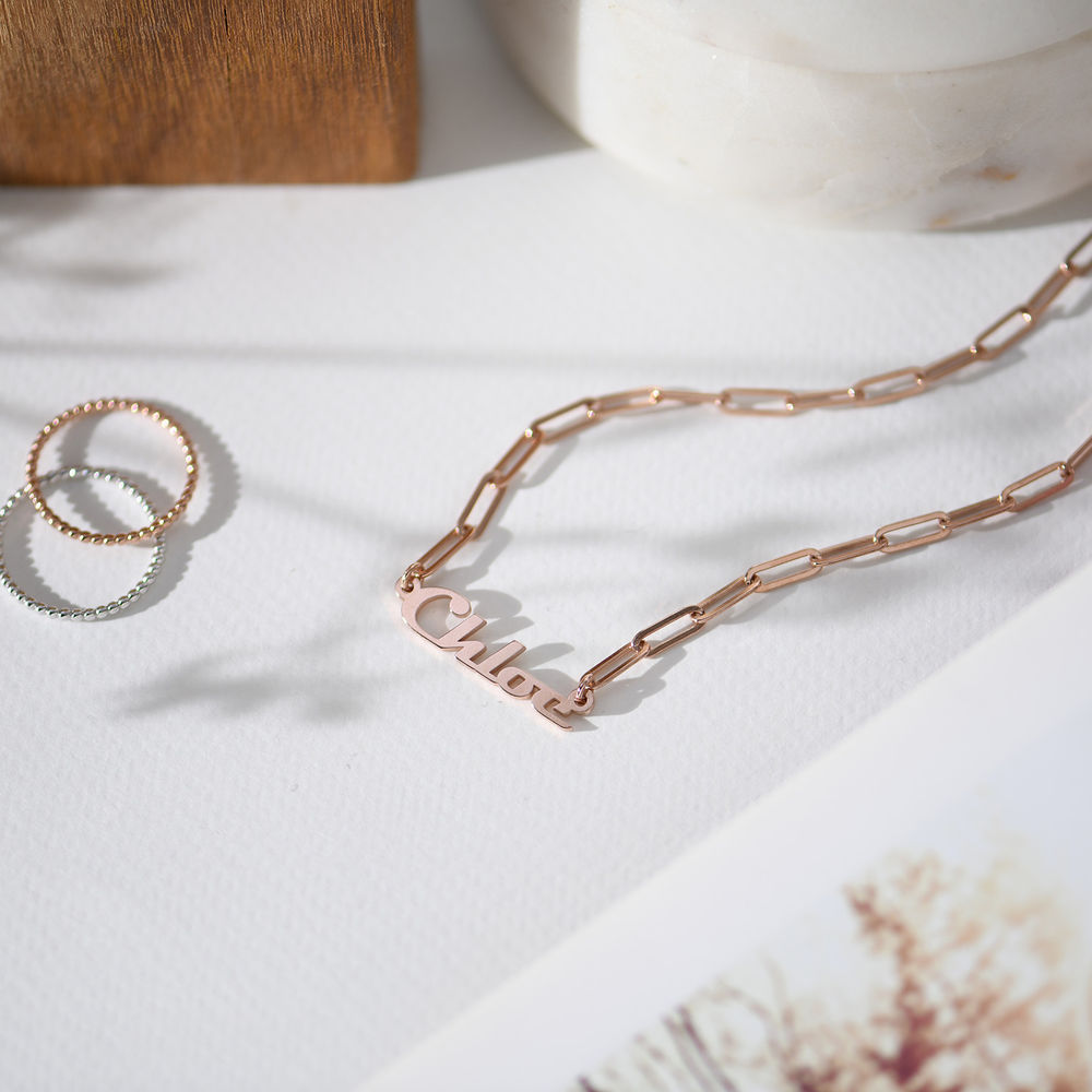 Collier Chaîne en plaqué or rose 18 carats - 1