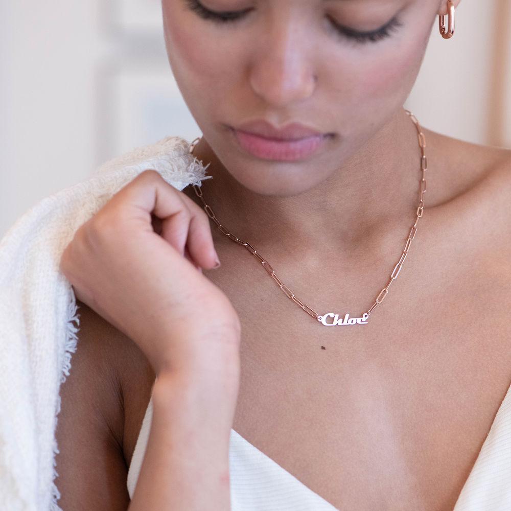Collier Chaîne en plaqué or rose 18 carats - 2