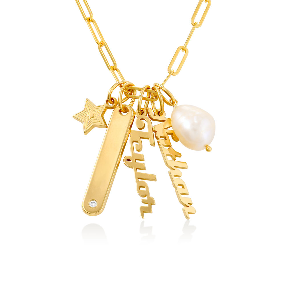 Collier chaîne à barre Siena en plaqué or 18 carats
