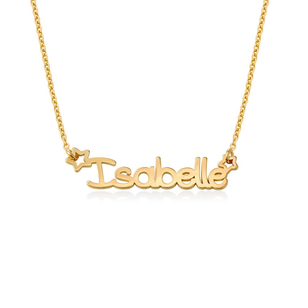 Collier prénom pour fille en plaqué or