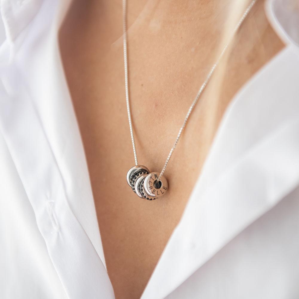 Collier de Perles Gravées sur Mesure en Argent Sterling - 2