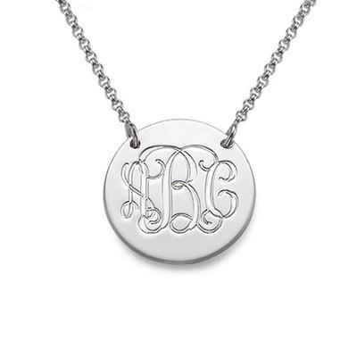 Collier Médaille Monogramme en Argent
