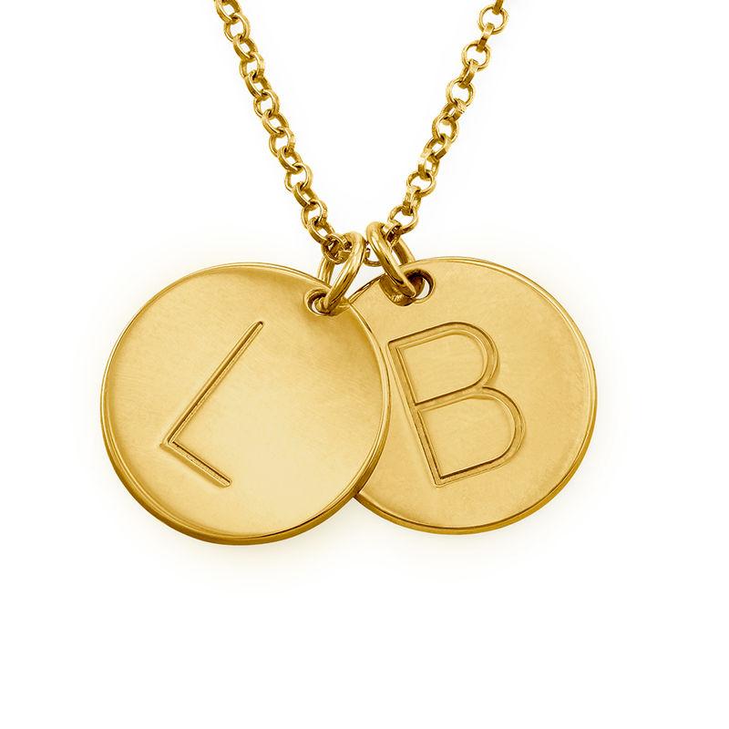 Collier Pendentif avec initiale gravée plaqué or