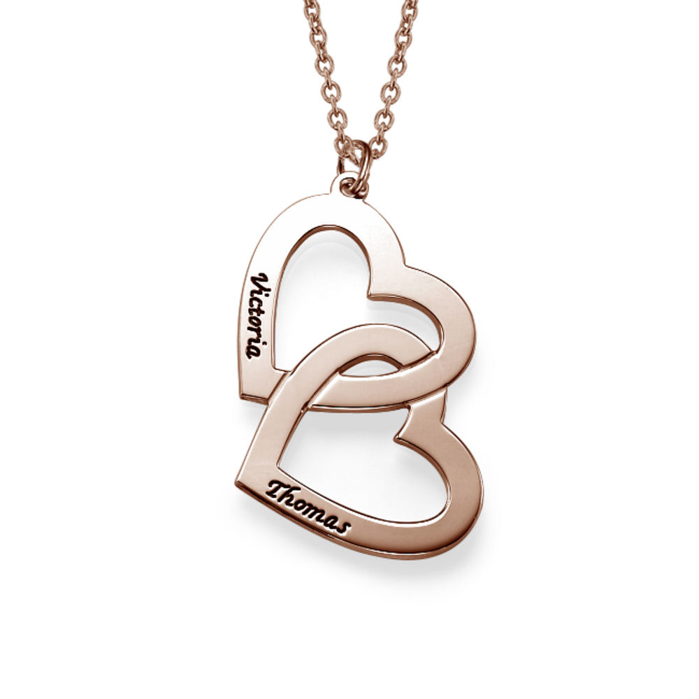 Collier Personnalisable Couple Plaqué Or Rose 18cts