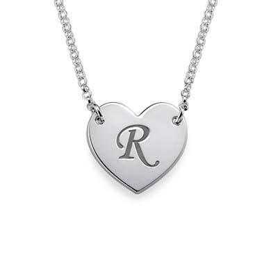 Collier Coeur à personnaliser avec initiale