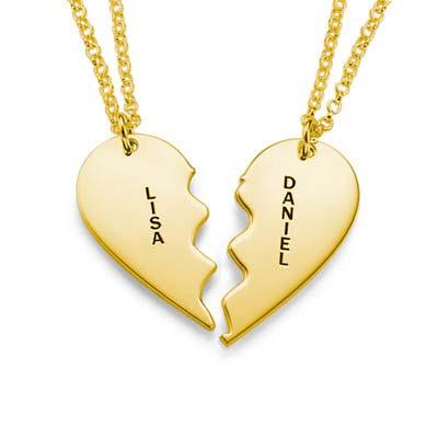 Collier avec Coeur Brisé Personnalisable - 1