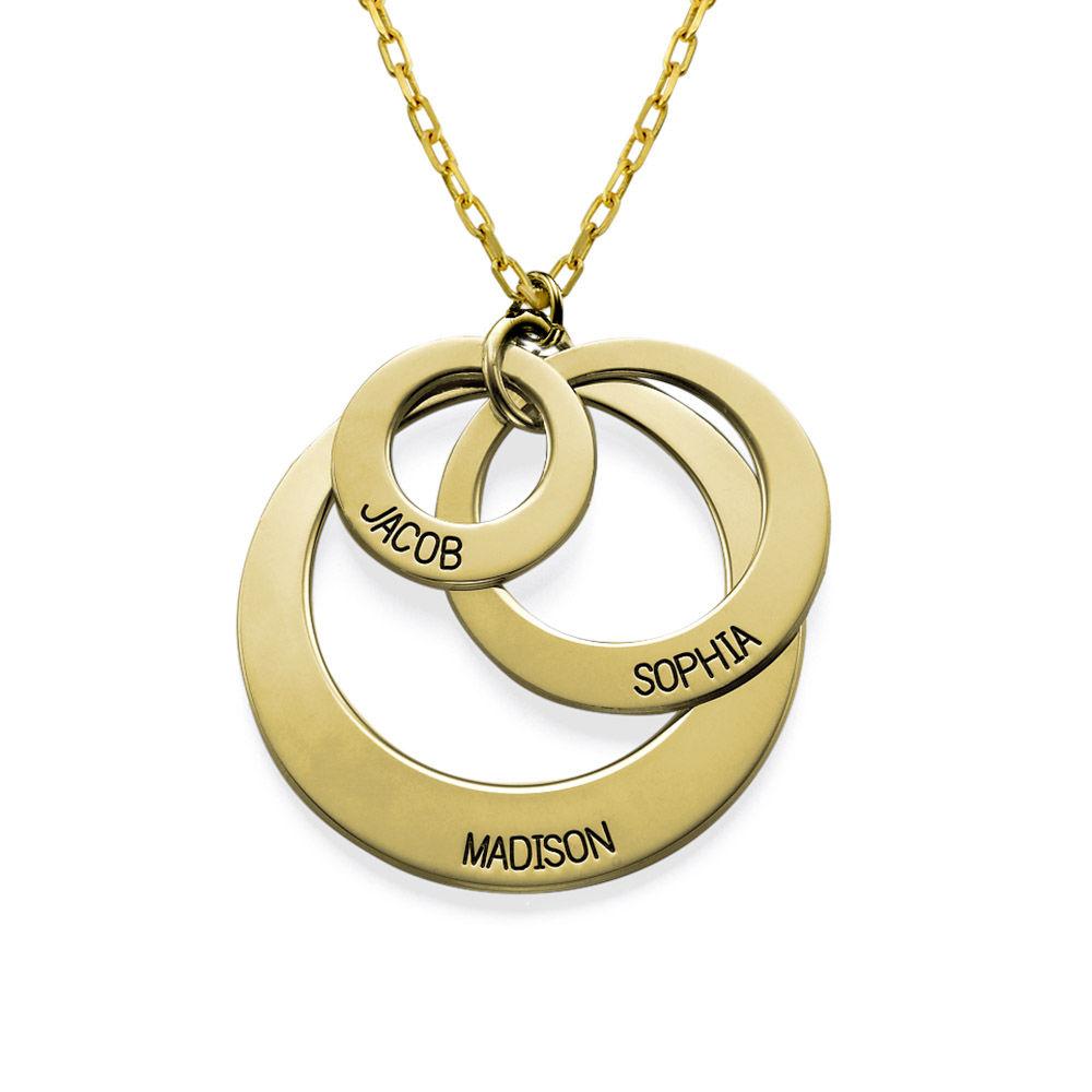 Collier avec trois cercles en or 10 cts - 1